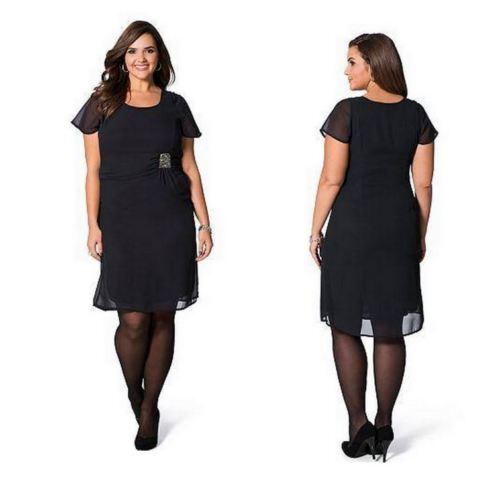 Sheego Kleid Gr.52-54-56 Abendkleid Damen Strass schwarz Cocktailkleid Festlich
