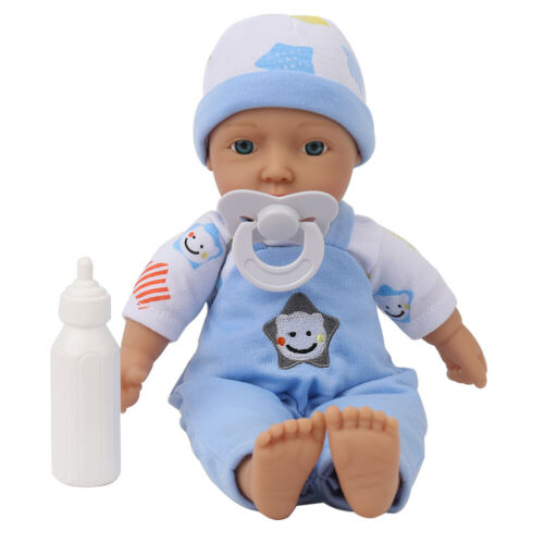 11/'/' Baby Reborn Dolls Soft Cloth Vinyl Silicone Toy+Clothes for Girls and Boys