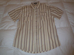 Authentic-Monarchy-Embroidered-Military-Style-Button-Down-Mens-Shirt-Sz-XXL