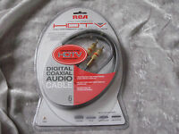 Rca Digital Coax Cable Satellite A/v Cd Dvd Video Components 24k 6 Ft