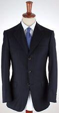 NWT $4500 BRIONI SUIT Nomentano dark blue pinstripe handmade Italy EU 72 US 62 R
