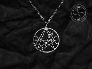 Necronomicon pendant lovecraft symbol stainless steel necklace image is loading necronomicon pendant lovecraft symbol stainless steel necklace satanic aloadofball Choice Image
