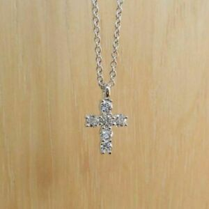 0-50-Ct-Round-Cut-Diamond-Cross-Pendant-Chain-18-034-14k-White-Gold-Finish