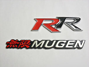 Honda Mugen RR Emblem Red White Black logo badge sicke Sir ...