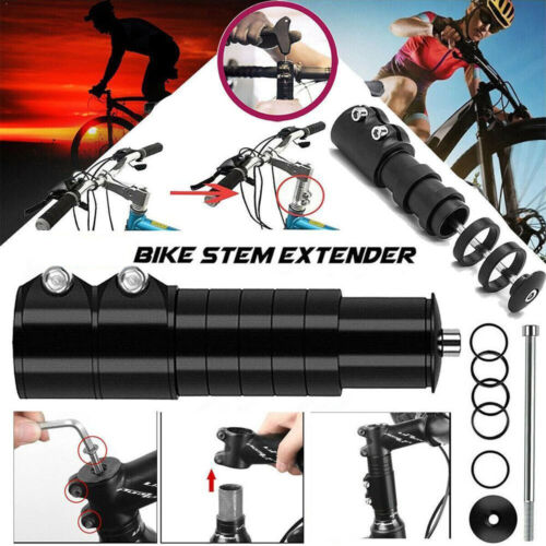 Fahrrad Lenker Erhöhung 121mm MTB Lenkergabel Vorbau Gabelschaftverlängerung Alu