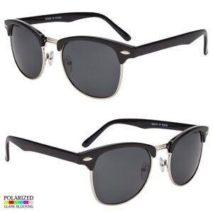 c68c596558f Details about Polarized club-master Sunglasses Men WoMen Vintage Designer  Metal Half Frame Sl
