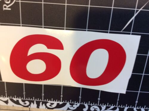 Hyster Forklift decal Part # 1354159  Hyster Vinyl Decal RED  Part # 1586448