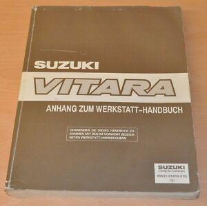 Werkstatthandbuch SUZUKI Vitara SE416 SV620 Anhang Nachtrag Stand 1995