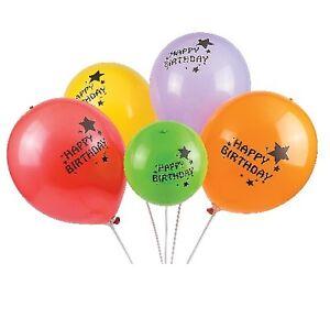 Image Is Loading Illooms LED Happy Birthday Light Up Balloons X5