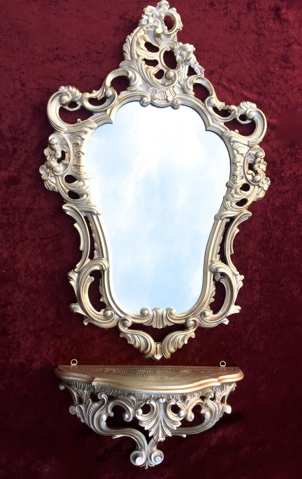Espejo de Parouge argent Antigua con consola 50x76 emplazamiento Barroco