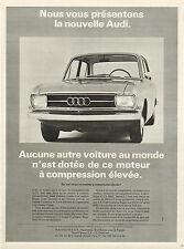 Publicité Advertising 1965  la nouvelle AUDI  moteur à compression élevée