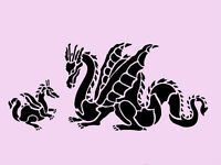 Dragon Stencil Border Dragons Stencils Background Templates Pattern Template