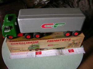 VINTAGE LEWIS GALOOB USA/JAPAN TINPLATE CONSOLIDATED FREIGHTWAYS LORRY £120.00