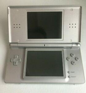 Nintendo DS Lite with AC Charger USG-001- Gloss Silver - GOOD CONDITION