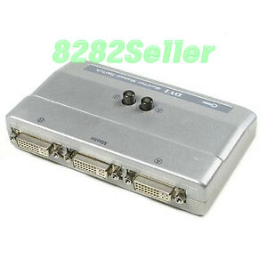 DVI-2-Port-2-1-Manual-Switcher-Selector-Switch-Box-NEW-TV-LCD-Monitor-single-NEW