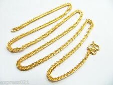 Pure SOLID 24K YELLOW GOLD CHAIN NECKLACE / CHOPIN CHAIN NECKLACE / 12-13g