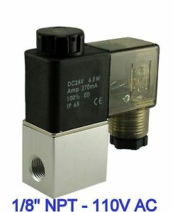 1-8-Inch-Normally-Closed-Pneumatic-Aluminum-Air-Warer-Solenoid-Valve-110V-AC-DIN