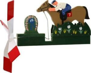 Horse-Racing-Jockey-Wooden-Hand-Painted-Whirligig-29-HorseR