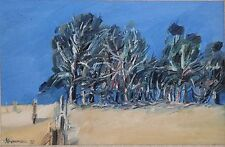 MICHAEL SHANNON-Australian Modernist-Original Signed Oil-Peppermint Gum Trees