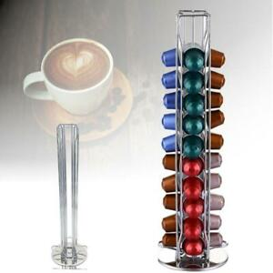 Revolving-Rotating-40-Capsule-Coffee-Pod-Holder-Tower-Stand-Rack-For-Nespresso