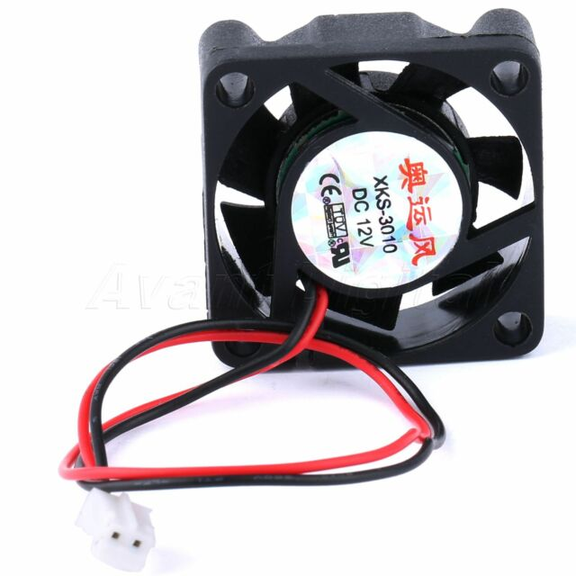 12V DC 2Pin 30mm 7Blades Mute Brushless CPU Laptop Extractor Cooler Cooling Fan