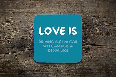 Love Is - £ 500 Auto - £ 6000 Bici-ciclismo Coaster- Materiali Di Alta Qualità Al 100%
