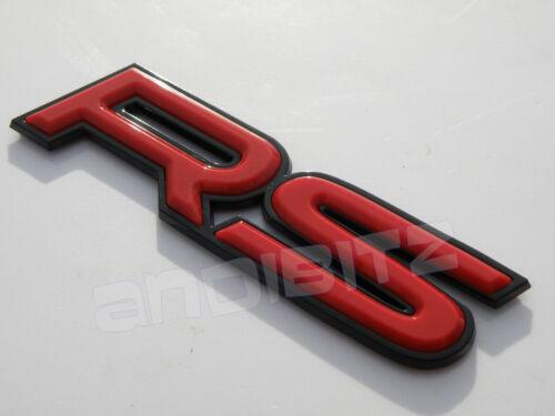ROSSO Nero 3D RS CAR BADGE GRILL Boot PORTA MOTO CORSA WING POSTERIORI FORD