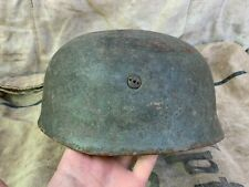 WWII WW2 Original German Paratrooper helmet M38 Camo Battle Damage
