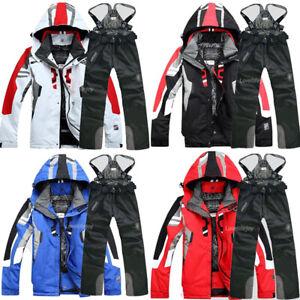 Windproof-Men-039-s-Winter-Ski-Suit-Jacket-Pants-Waterproof-Coat-Snowboard-Snowsuits