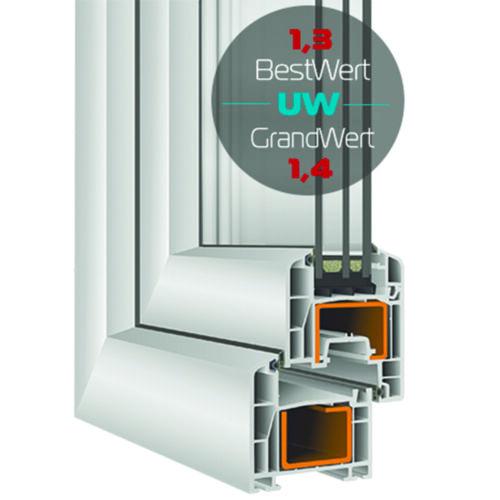 Kunststofffenster Kellerfenster Fenster  3-fach Verglasung Dreh Kipp Premium