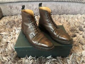 Crockett-and-Jones-Northcote-Dark-Brown-Boots-Size-UK-7