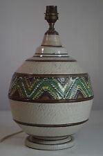 Pied Lampe Art Deco Africaniste Céramique Vintage Ethnic Lamp Base Brisdoux?
