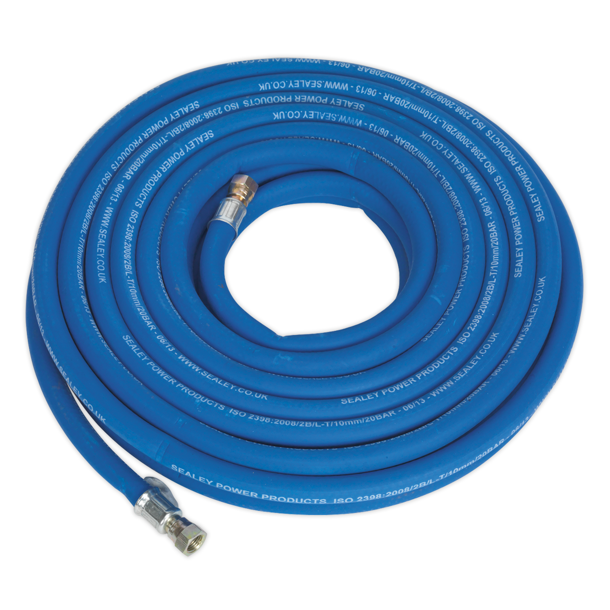 Air Hose 15m x Ø10mm with 1 4 BSP Unions Extra Heavy-Duty   SEALEY AH15R 38 by S