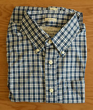 NEW Abercrombie & Fitch Indian Falls Navy Blue Check Checked Shirt S RRP £82