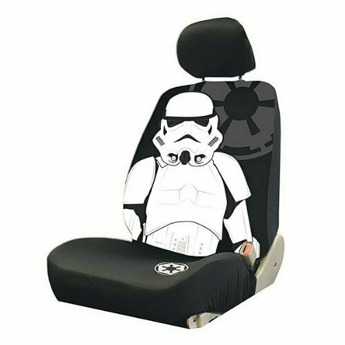 FOR HONDA 3PC STAR WARS STORMTROOPER CAR SEAT COVER WITH KEYCHAIN SET