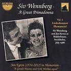 Siv Wennberg: A Great Primadonna, Vol. 1 - Liederkonzert (Romances) (CD, Aug-2013, Sterling)