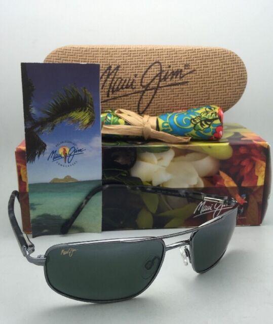 671a1a0e3d0 Maui Jim Kahuna 162-02 Polarized Rectangular Sunglasses - Gunmetal ...
