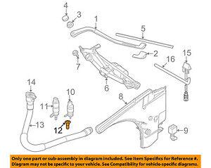 BMW OEM 07-16 328i Wiper Washer-Windshield-Washer Pump Screen 61667006063