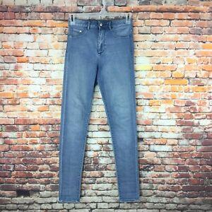 H-amp-M-amp-Denim-Womens-Size-28-Super-Skinny-High-Waist-Light-Wash-Denim-Jeans