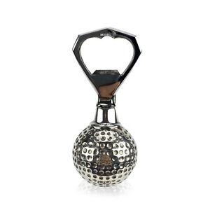 Authentic Hermes Vintage Silver Stainless Steel Golf Ball Bottle Opener
