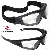 Radians Cuatro Clear Anti Fog Lens Safety Glasses Padded Goggles Z87.1