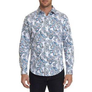 Robert-Graham-Men-039-s-Size-L-Atlantic-L-S-Sport-Dress-Shirt-Multicolor-Paisley-NWT