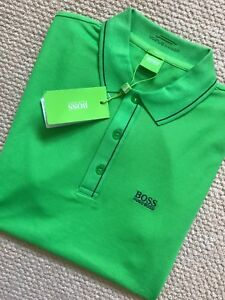 Hugo-Boss-Green-Label-Verde-Delgado-034-Paule-034-GOLF-POLO-SHIRT-TOP-S-M-L-Nuevo-Etiquetas