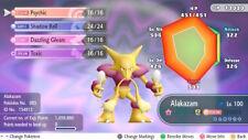 Pokemon Let's Go Shiny Alakazam Max 6IV / AV [Fast Delivery] Original Owner