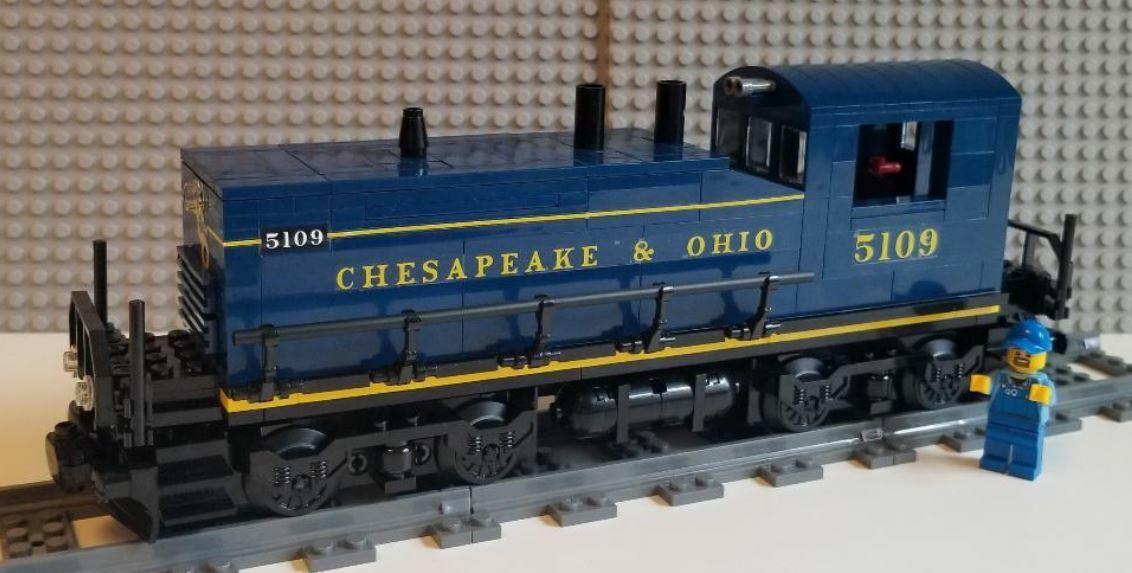 Tren de Lego Personalizado Chesapeake & Ohio Switcher por favor lea la descripción del artículo