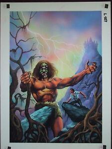 Originalzeichnung Vampir Horror Roman 321 Titelbild Nikolai Lutohin