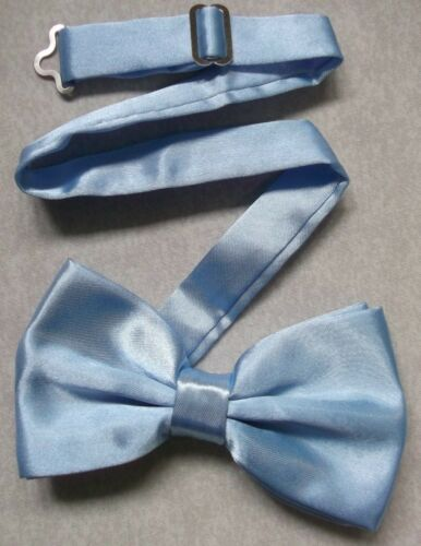 Bow Tie Mens NEW Bowtie Adjustable Dickie PALE BLUE