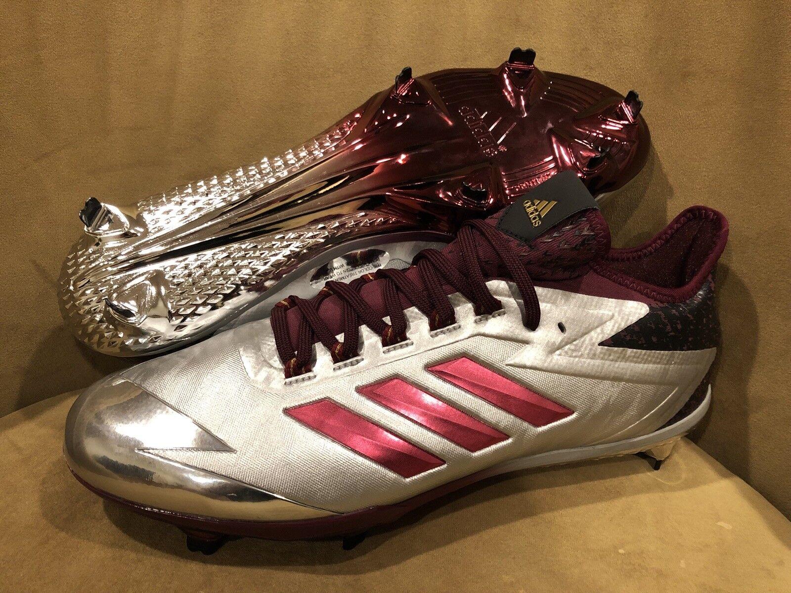 Adidas adizero postbruciatore 4 sono scarpe da baseball 11,5 silver / bordeaux, dimensioni 11,5 baseball edbc13