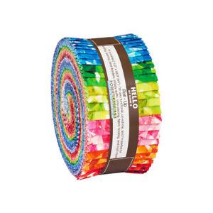 Robert-Kaufman-Birth-Stones-Roll-Up-2-5-034-Fabric-Quilting-Strips-RU-872-40-J05