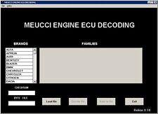 New SW Meucci per scodifica centralina